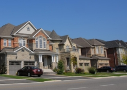 Multiple houses in contemporary neighborhood, Residential Painting Exterior